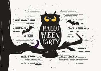 Free Scary Halloween Owl Vector - Free vector #414463