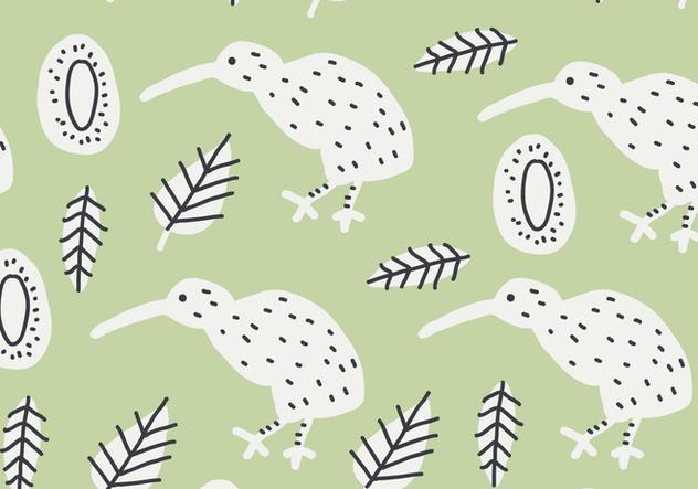 Green Kiwi Bird Pattern - Kostenloses vector #414503