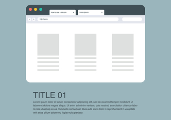 Website with Address Bar - бесплатный vector #414633