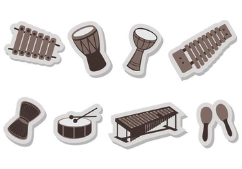 Free Music Insrument Icons Vector - Free vector #414643