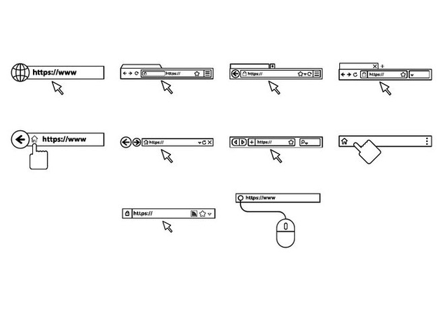 Free Address Bar Vector - Free vector #414743