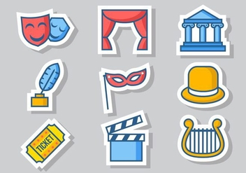 Free Theatre Icons Vector - бесплатный vector #414783