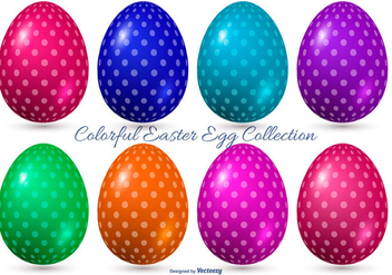 Colorful Vector Easter Eggs - vector gratuit #414863