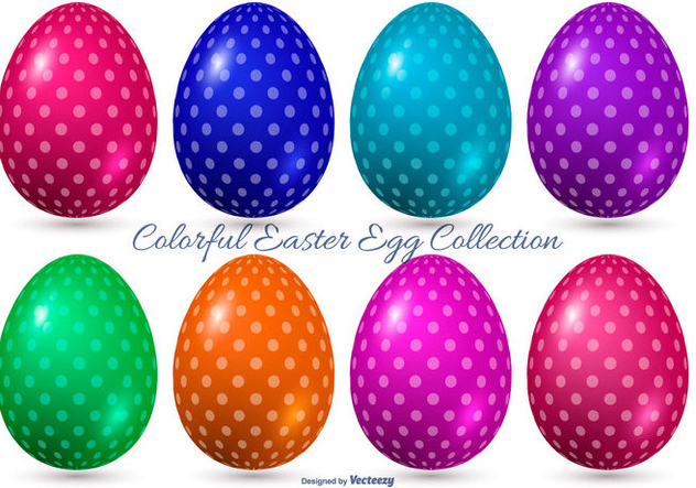 Colorful Vector Easter Eggs - vector #414863 gratis