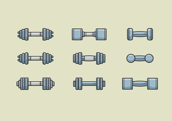Dumbell Vectors Icons - бесплатный vector #414903
