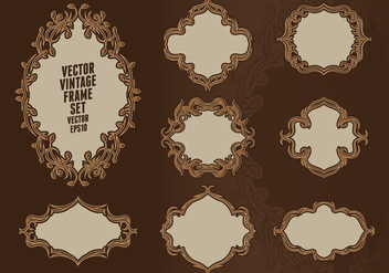 Baroque Frame Set - Free vector #414913
