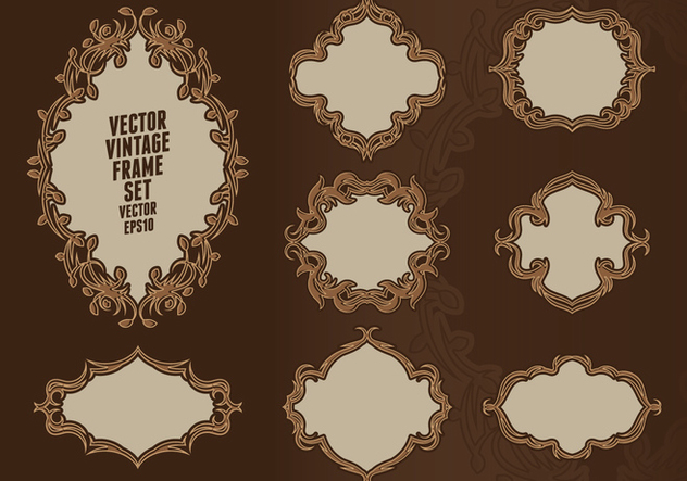 Baroque Frame Set - vector #414913 gratis