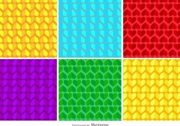 Geometric Hearts Vector Pattern - Free vector #414923