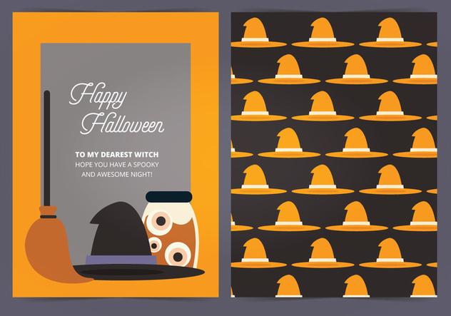 Vector Halloween Card - vector #414963 gratis
