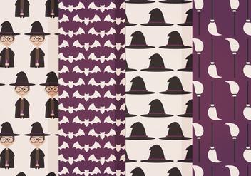 Halloween Vector Patterns - Free vector #414973