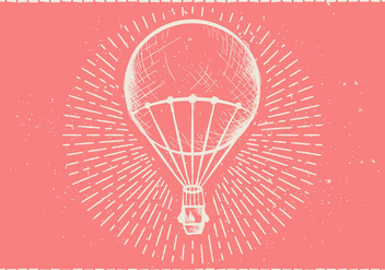 Free Hand Drawn Hot Air Balloon Vector Background - бесплатный vector #415043