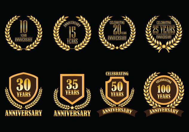Anniversary Vector Badges - vector #415053 gratis