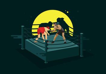 Free Wrestling Ring Illustration - Free vector #415403