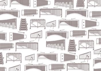 Marimba Pattern Vector - Kostenloses vector #415523