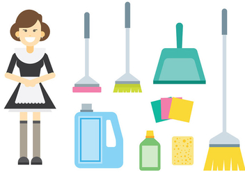 Free French Maid Icons Vector - Free vector #415543