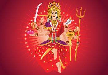 Vector Illustration of Goddess Durga in Subho Bijoya - Free vector #415563