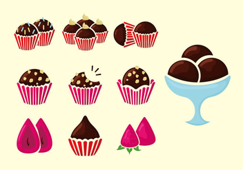 Brigadier brown cookies vector illustration - Free vector #415583