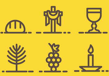 Free Holy Week Icons Vector - Free vector #415723