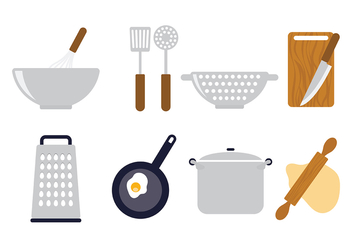Cooking Icons Vector - vector #415743 gratis