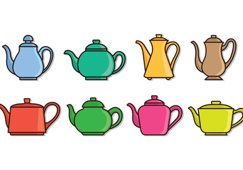 Set Of Teapot Icons - vector #415753 gratis