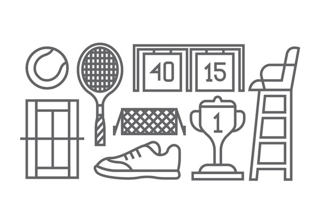 Tennis icons - Free vector #415763
