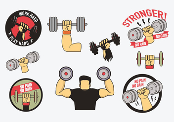 Free Dumbbell Vector - Free vector #415773