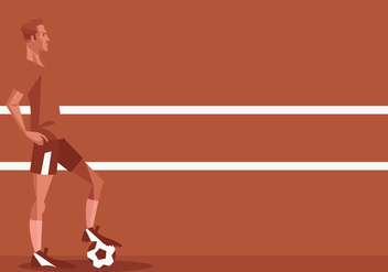 Football Player Standing In Front of Red Background Vector - Free vector #415793