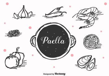 Hand Drawn Paella Vector - Free vector #415883