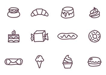 Set of Sweet Food - Kostenloses vector #416083