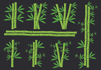 Bamboo icons - vector gratuit #416123