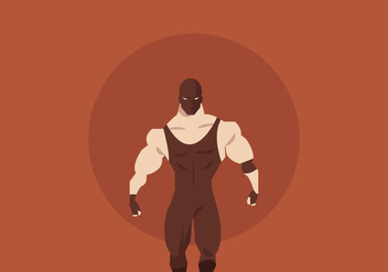 Masked Wrestler Walking Vector - Free vector #416173