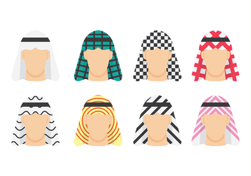 Free Arabian Man Avatars - Free vector #416243