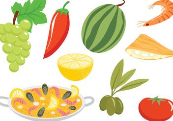 Free Spanish Cuisine Vectors - Free vector #416283