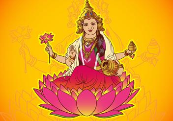 Hindu Goddess Lakshmi - Free vector #416373
