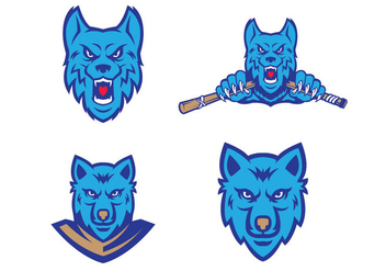Free Wolves Vector - Free vector #416383
