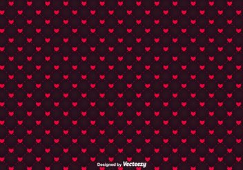 Minimalistic Hearts Vector Pattern - vector gratuit #416423