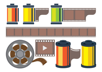 Film Canister Icons - Kostenloses vector #416543