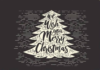 Free Christmas Vector Typography - Free vector #416693