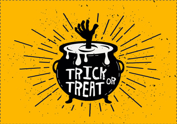 Trick or Treat Cauldron Vector Illustration - Free vector #416703