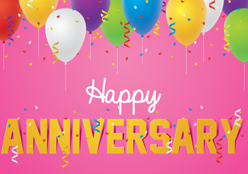 Happy Anniversary Background - vector gratuit #416743
