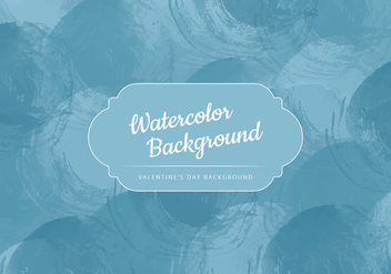 Vector Dark Blue Watercolor Background - Kostenloses vector #416853