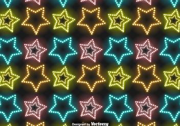 Vector Neon Stars Pattern - Free vector #417023