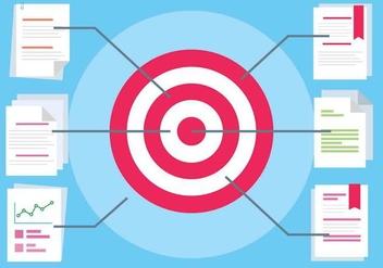 Free Flat Design Vector Target - Kostenloses vector #417053
