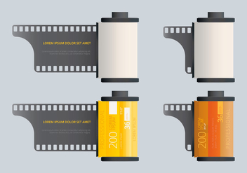 Film Canister Template - бесплатный vector #417303