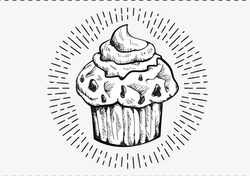 Free Hand Drawn Muffin Background - бесплатный vector #417393