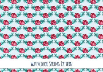 Free Vector Watercolor Pattern with Beautiful Flowers - vector #417413 gratis