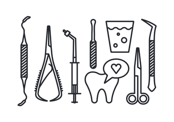 Dentist tool vector icons - бесплатный vector #417533