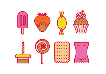Dessert and Sweet vector icons - vector gratuit #417843