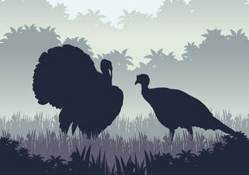 Wild Turkey Hunting Season - Free vector #417933