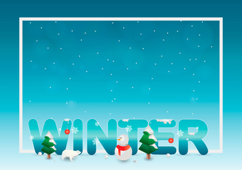Sapin Winter Template - бесплатный vector #417953